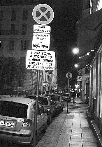 нарушение правил парковки в Париже