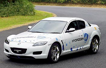Mazda RX-8 Hydrogen RE на бензине и водороде