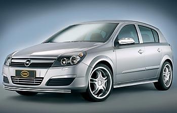 новый пластиковый «обвес» для Opel Astra