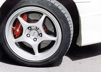 Мощные тормоза Toyota Mark II GT Four