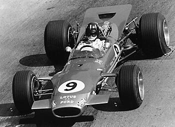 Monaco 1968 г.: G.Hill пилотирует Lotus 49B
