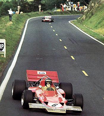 Клиновидный Lotus 72 образца 1970 г.