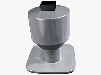 Твёрдая вставка шипа в шине и его нижний фланец имеют четырехгранную форму