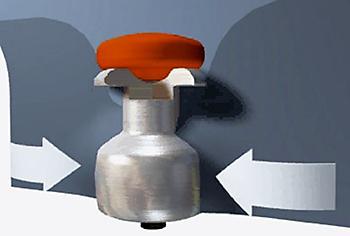 Благодаря увеличенному корпусу шипа и его упругому креплению шип лучше удерживается в шине