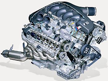 V-образный 10-цилиндровый 40-клапанный двигатель из Баварии