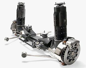 подвеска McPherson с электромагнитными стойками Bose