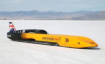 JCB DieselMax рекорд скорости для автомобилей с дизельным двигателем