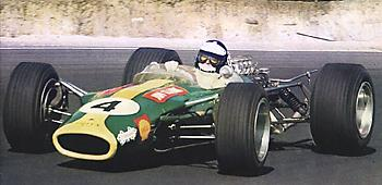 Дж. Кларк и Lotus 49 на трассе Kyalami