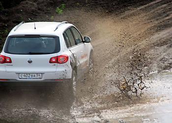 Тест-драйв VW Tiguan на бездорожье