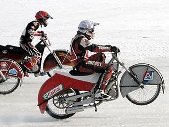 полуфинал Чемпионата России по мотогонкам на льду среди юниоров в личном зачете