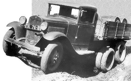 ГАЗ-ААА конструкции В. А. Грачева самый массовый отечественный грузовик с колесной формулой 6х4 в довоенное время