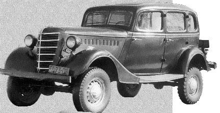 """Полноприводный вариант """"эмки"""" ГАЗ-61 - первый в мире комфортабельный внедорожник"""