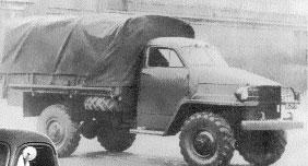 Опытный образец ГАЗ-63 с кабиной и оперением от STUDEBAKER. 1946 г