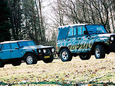 сравнение Lamborghini LM002 UAZ Hunter