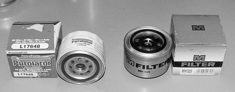 Масляные фильтры Purolator (США) и M-Filter (Финляндия)